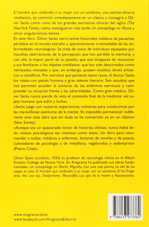 El hombre que confundió a su mujer con un sombrero Compactos Anagrama:  Amazon.es: Oliver Sacks, José Manuel Álvarez Flórez: Libros