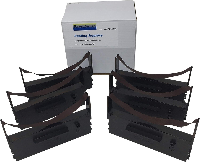 3 Pack TEC RKP-200 MA-85 Cash Register Ink Ribbon Black and Red