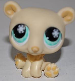 Littlest Pet Shop~#646 /& #647~Polar Bear~White Blue Flowers~Ice Blue Flower Eyes