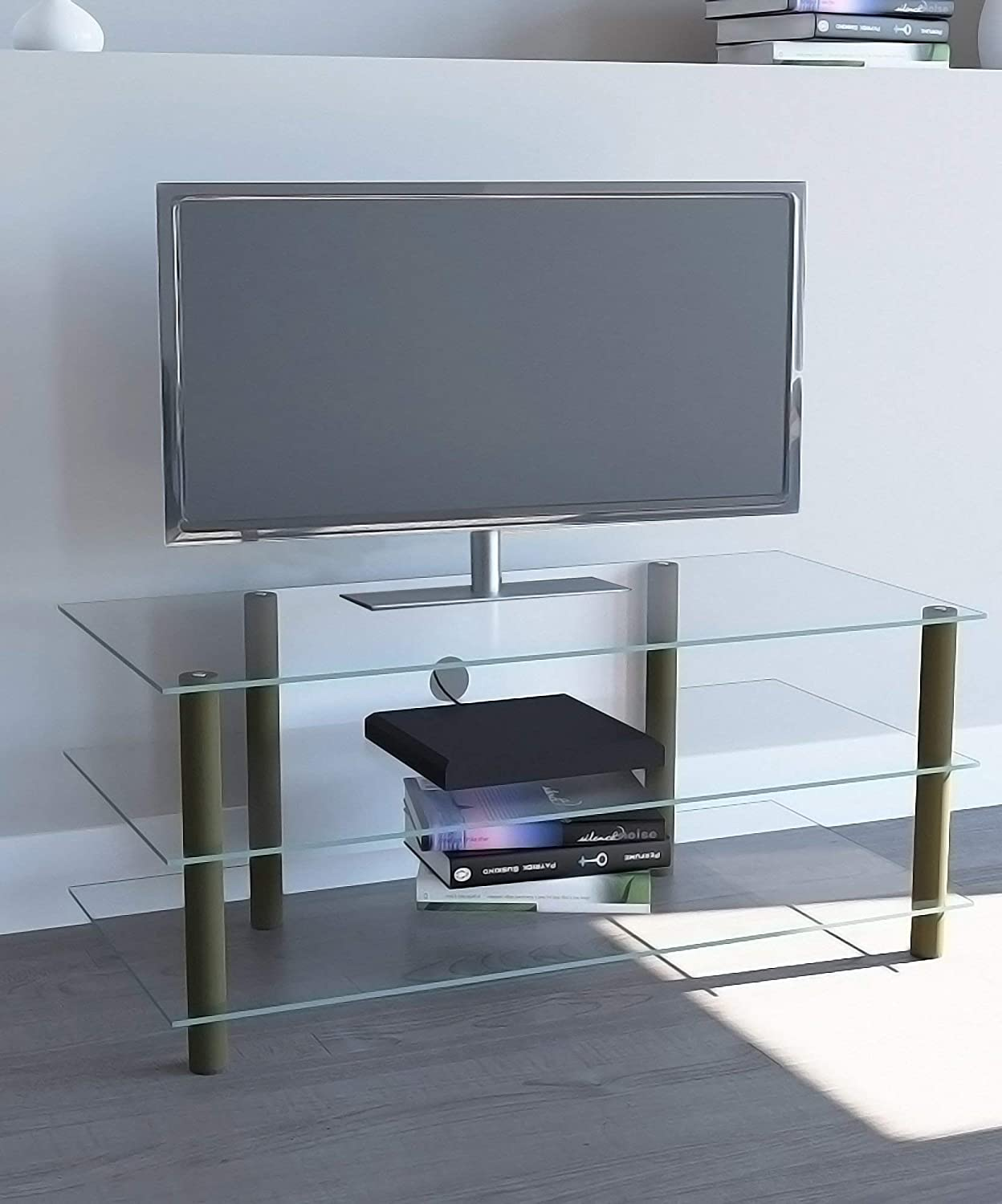 VCM TV Furniture Zumbo, Brass Plated/Clear, 12x12x12 cm