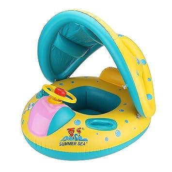 D.F.L Anillo de natación del bebé Flotador de Seguridad Anillo de Natación Asiento Inflable,Niños
