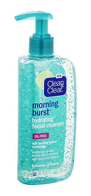 Clean And Clear Morning Burst Facial Cleanser - 8 Oz, 3 Pack Hydrating Repair Peptide Wrinkle Cream (Post Peel) - Enhanced with Matrixyl 3000 Argireline Hyaluronic Acid & Natural Botani