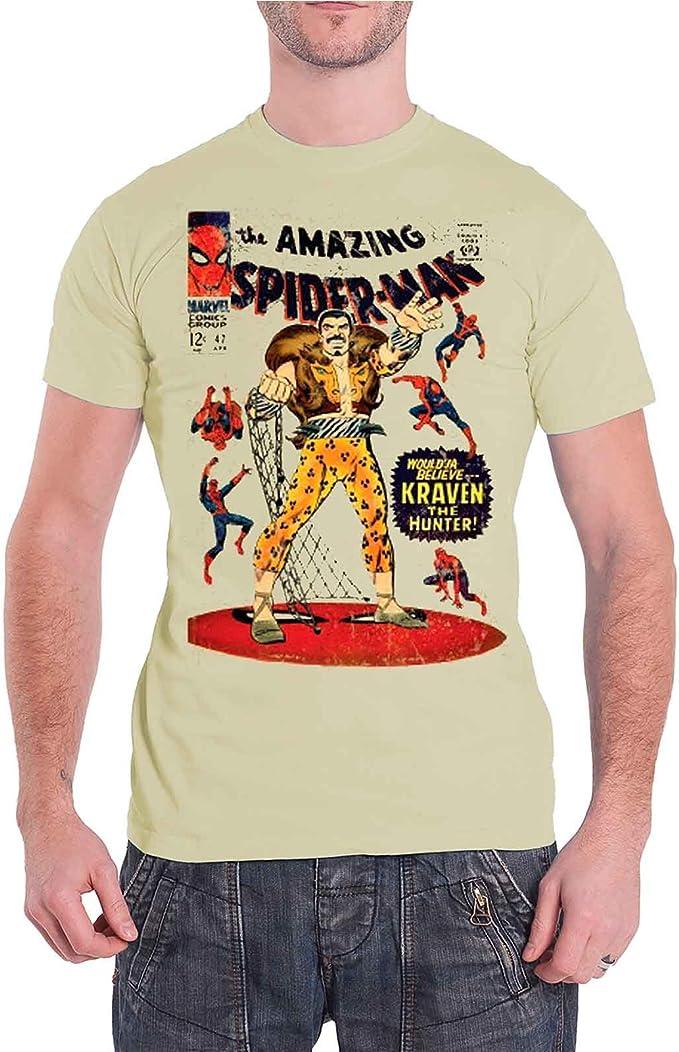 Camiseta de Spiderman para Hombre, diseño de cómic, número 47 Kraven The Hunter: Amazon.es: Ropa y accesorios
