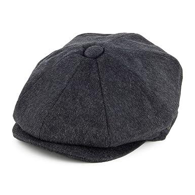 63aea08d Jaxon & James Pure Wool Harlem Newsboy Cap - Charcoal Medium: Amazon ...