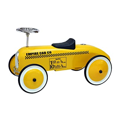 Morgan Cycle Childs Taxi Cab Foot to Floor Ride On Car, Yellow: Toys & Games