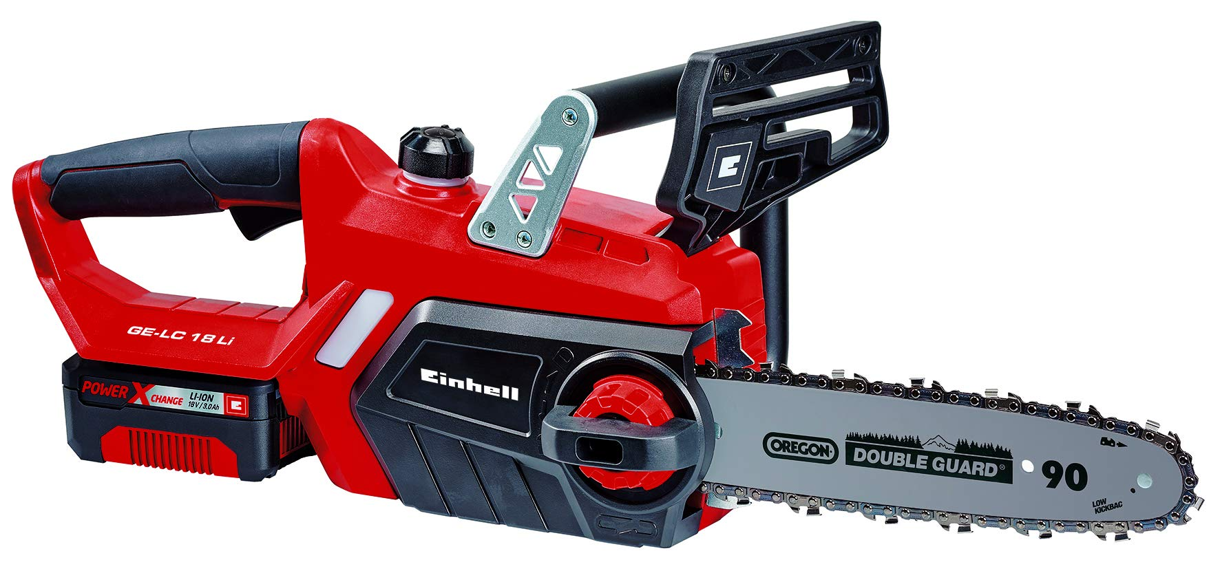 Einhell 4501760 GE-LC 18 Li Kit - Motosierra eléctrica, batería Power X-Change, lubricación automática, longitud de corte 23 cm, velocidad de corte 4.3 m/s, ...