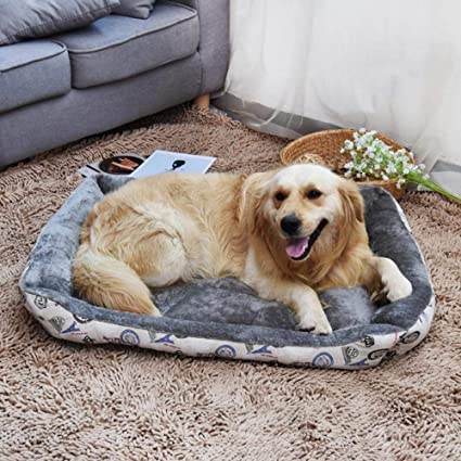 Amazon.com : Vivian Inc Beds & Furniture - Hot Dog Pet Bed Design Soft Warm Fleece Pet Nest House Sofa for Small Dogs Large Dogs (Grey, 90x70x15cm) : Pet ...