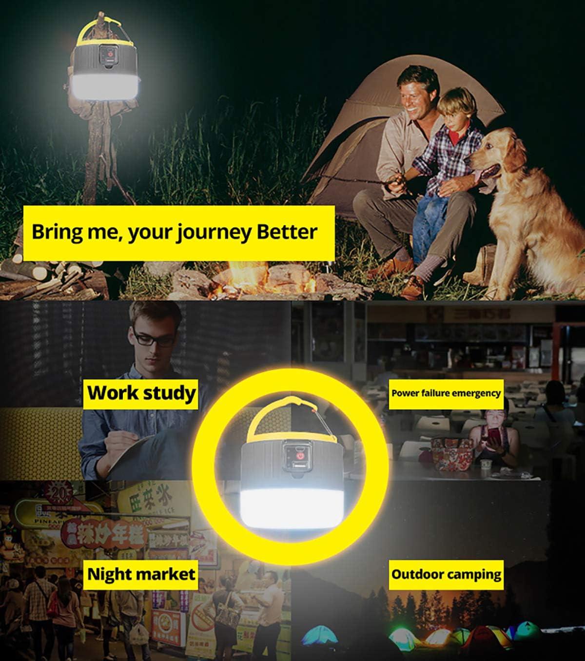 Telecomando,1000 Lm,Banca di Potere 4400mah,Luci di Emergenza per Esterni,Pesca Luce Solare da Campeggio A LED Luci Escursionistiche Lanterna USB Ricaricabile,5 modalit/à di Illuminazione