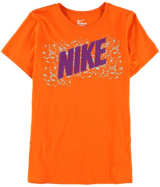 Nike Womens Athletic Cut Graphic T-Shirt Orange 2XL at Amazon ... dfdcc7103d
