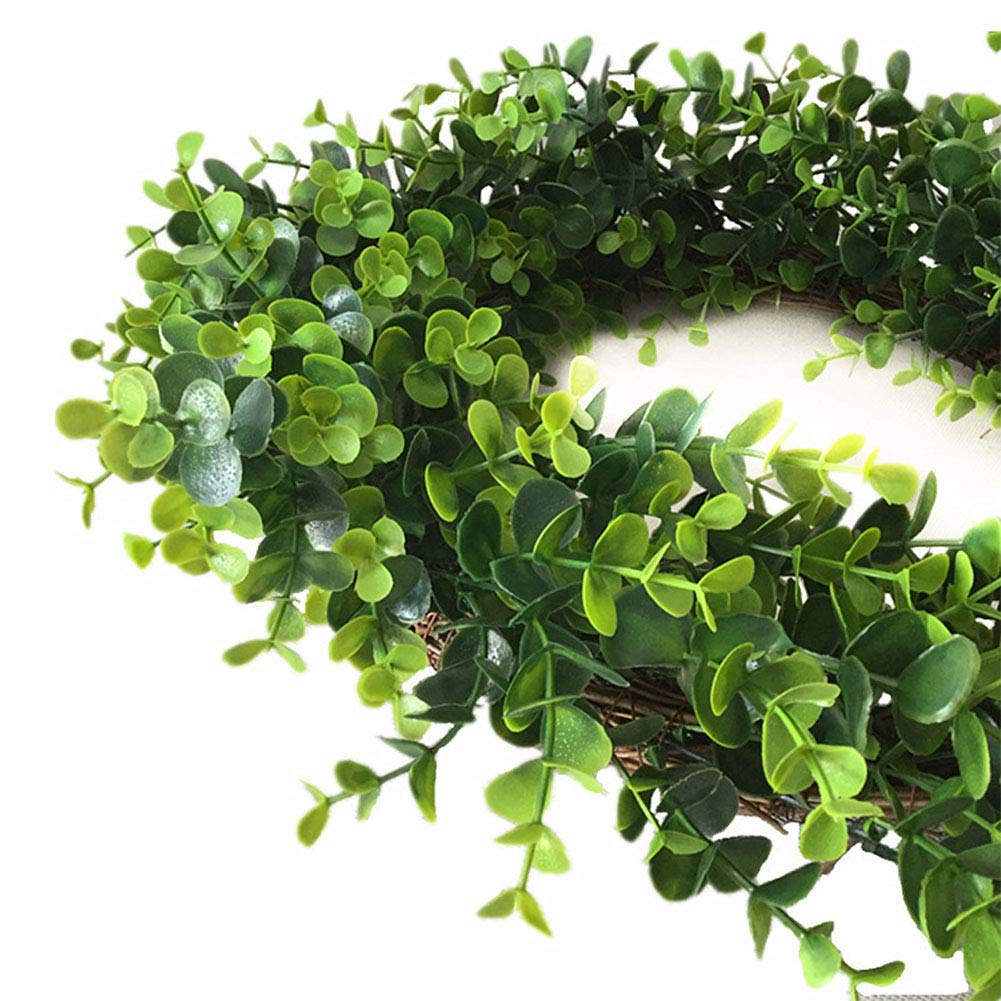 Yiwa Exquisite Green Wreath Garland Hanging Pendant for Door Wedding Festival Decoration 19.6 Inches