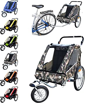 PAPILIOSHOP LEON Remolque carrito para el transporte con kit de footing 6520: Amazon.es: Deportes y aire libre