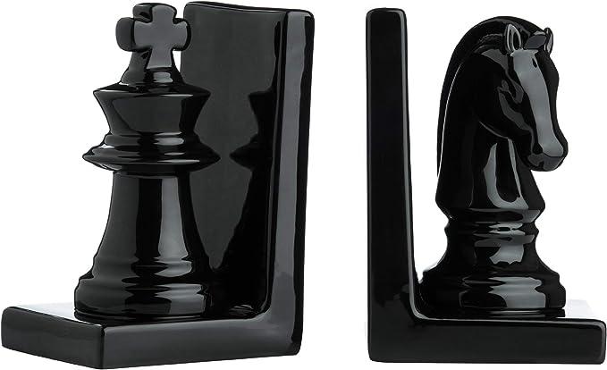 Alices Collection 25 x 9 x 16 cm set di 2 fermalibri a scacchi antichi dimensioni