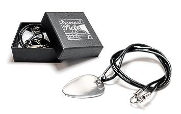 Pulsera de guitarra personalizada / collar de cuero de la selección - grabado
