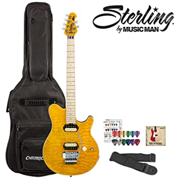 Sterling By Music Man Ax40d Electric Guitar Kit In Trans Gold Finish