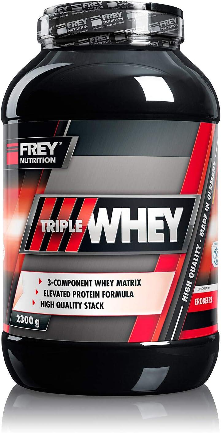 Frey Nutrition Triple proteína Whey 2,3 kg lata (Fresa) by ...