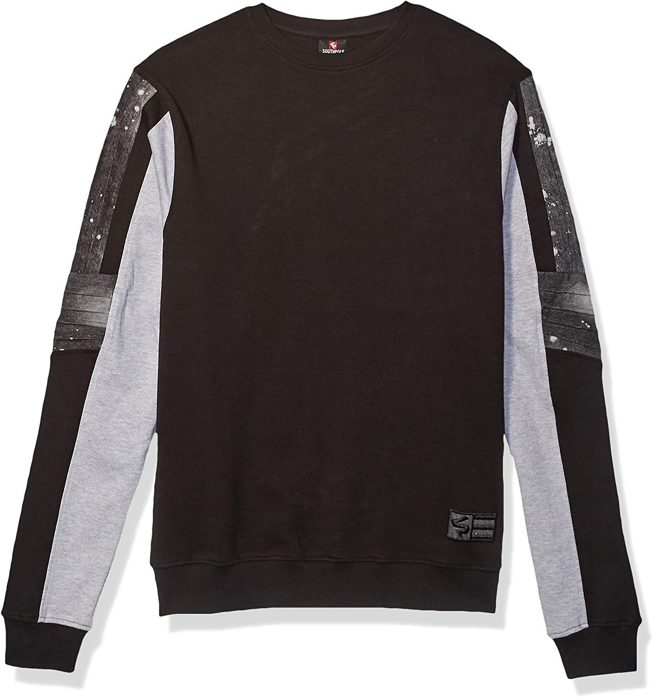 Southpole Mens Active Basic Crew Neck Fleece Pullover Sweatshirt Sweatshirt