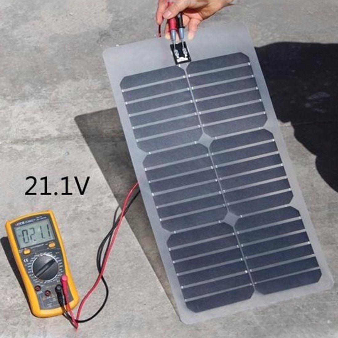 NW 1776 Flexible Solar Battery Maintainer 18V 12V 20W Solar Car Boat Power Panel Battery Charger Maintainer for Automobile Motorcycle Tractor Boat Batteries by NW 1776 (Image #8)