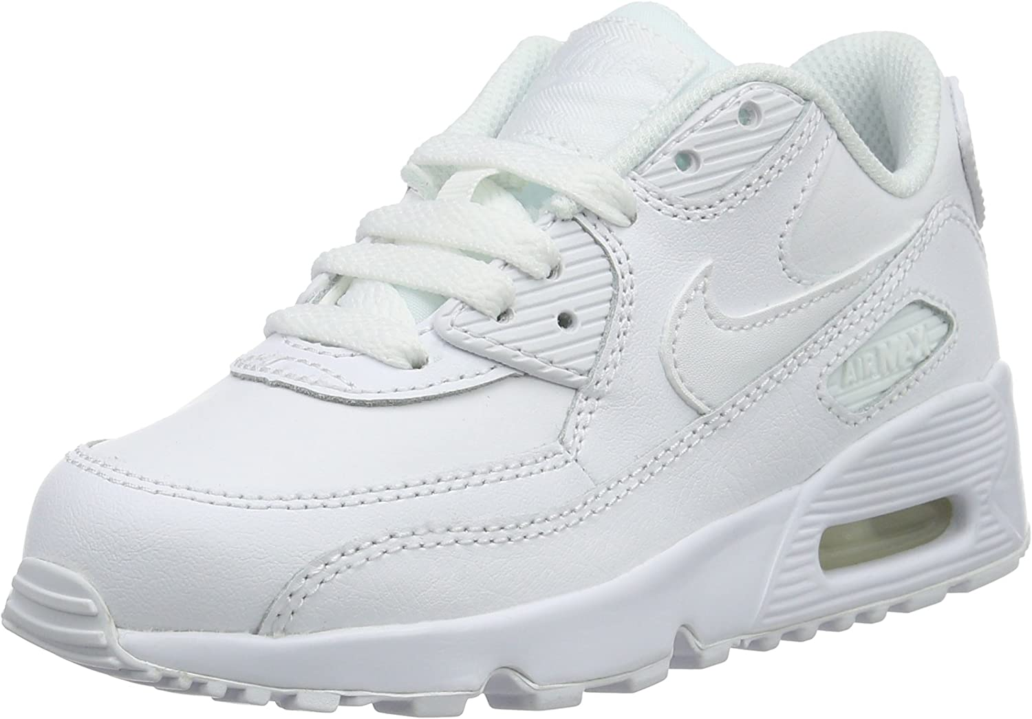 girls little kids nike air max 90 leather casual scarpe