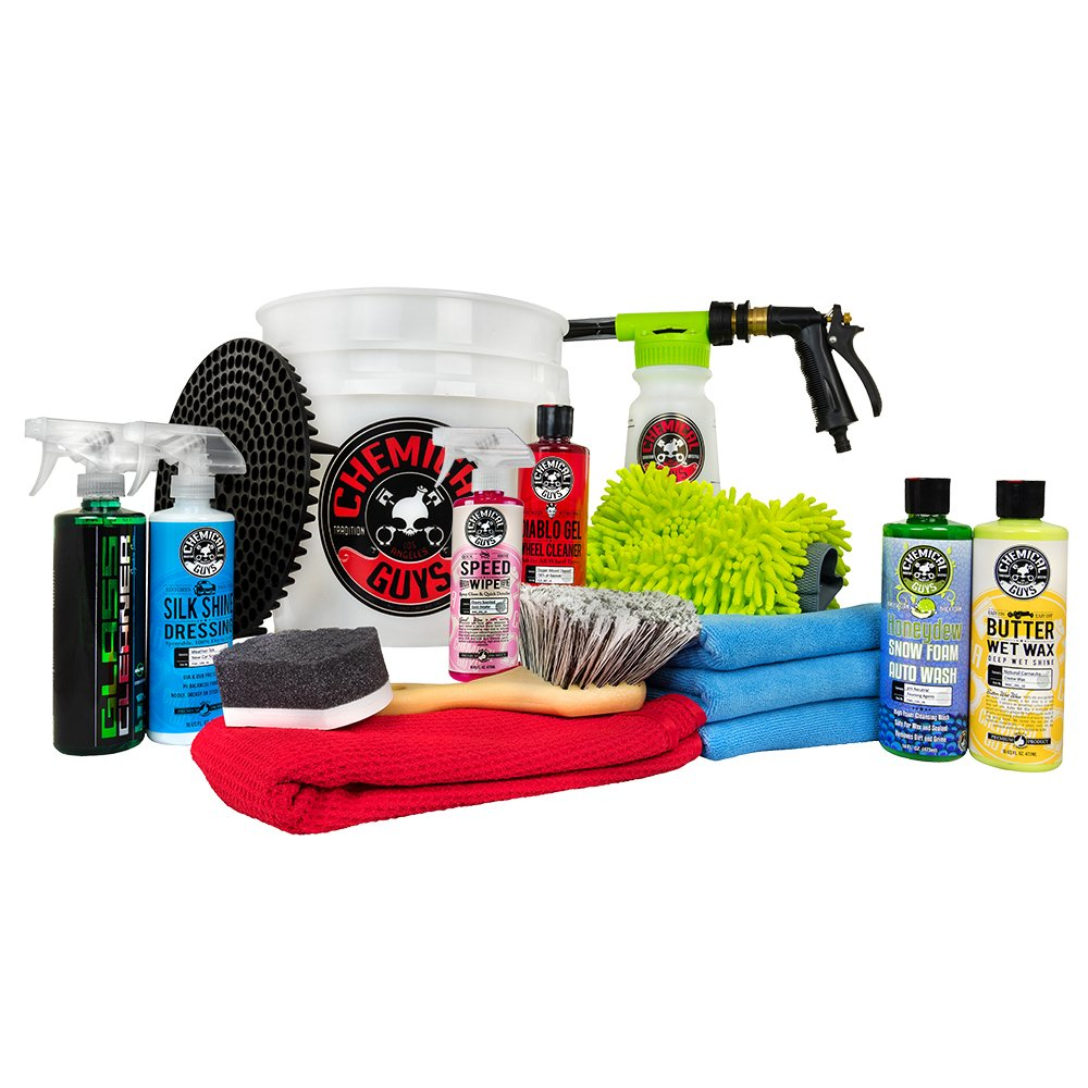 Chemical Guys HOL148 16-Piece Arsenal Builder Wash Kit with TORQ Blaster Foam Gun, Bucket and (6) 16 oz Care Products (Gift for Car & Truck Lovers, Dads and DIYers)
