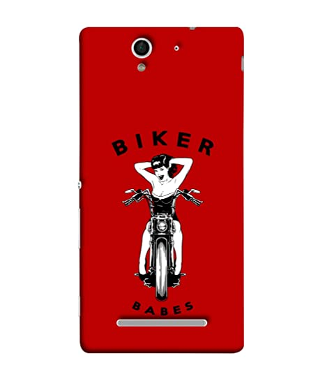 the latest 0a822 201e4 Sony Xperia C3 Back Cover Biker Babes Design From FUSON: Amazon.in ...