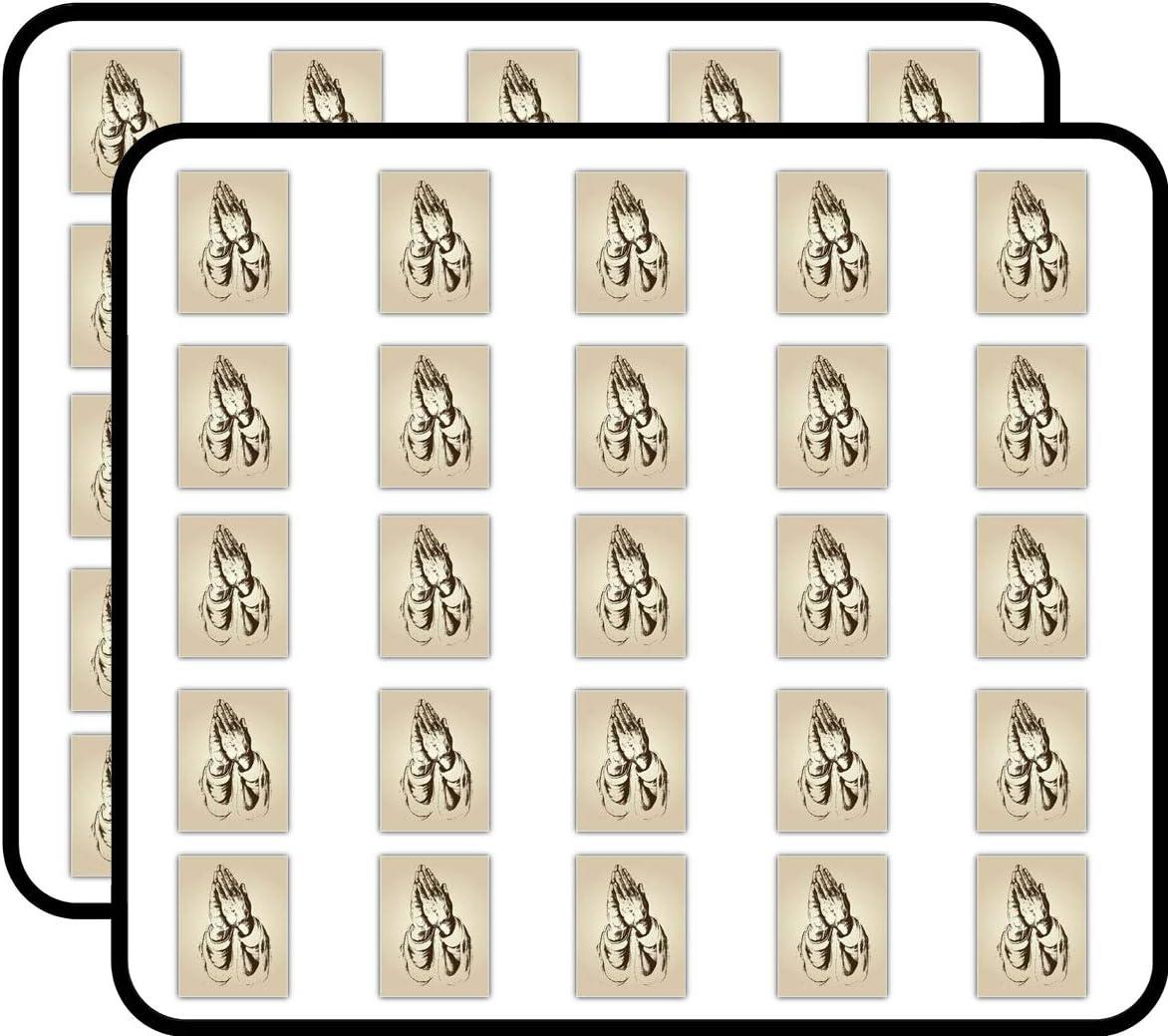 Praying Hands and Faith Religion Art Decor Sticker for Scrapbooking, Calendars, Arts, Kids DIY Crafts, Album, Bullet Journals 50 Pack