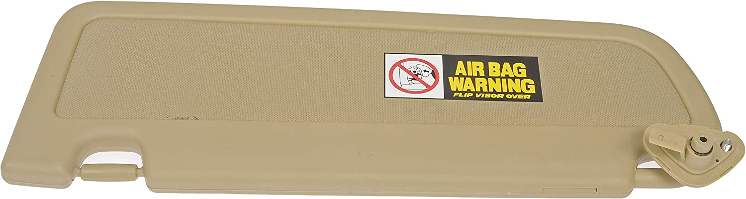 Dorman 74052 Passenger Side Sun Visor Panel for Select Honda Models Beige