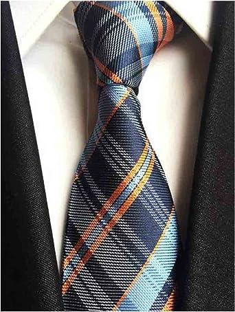 Business Necktie Stripe plaid Men Tie Classic JACQUARD Silk Woven Fashion Colors
