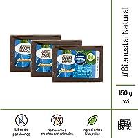 Paquete de 3 - Jabones Sensibles Facial y Corporal, Artesanal de Hoja de Neem
