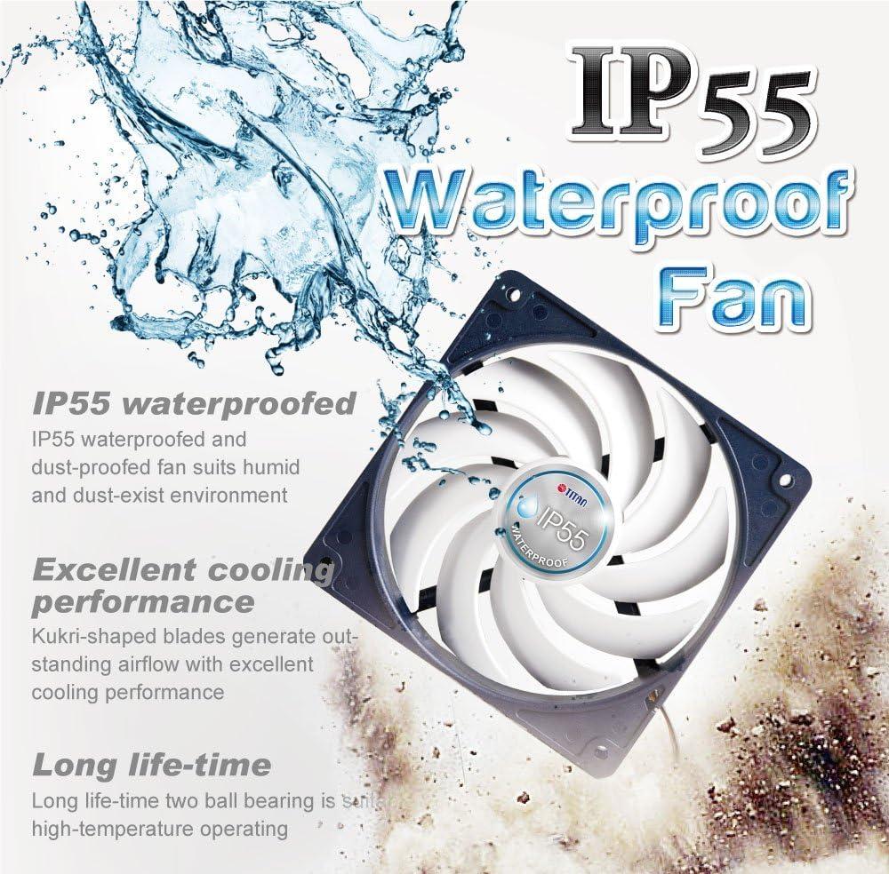TITAN- 12V DC IP55 Waterproof/Dustproof Case Cooling Fan (140mm)