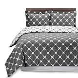 Amazon Price History for:Printed Duvet Covers Reversible 3 Piece Set with 2 Pillow Shams - Luxurious Soft Brushed Microfiber - Wrinkle, Fade & Stain Resistant - Hotel Quality (Queen:90x90inches, Tan Grey)