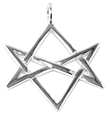 Unicursal Hexagram Pendant Sterling Silver Aleister Crowley