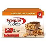 Premier Protein 30g Protein Bar, Chocolate Peanut Butter, 2.53oz Bar, (6 Count)
