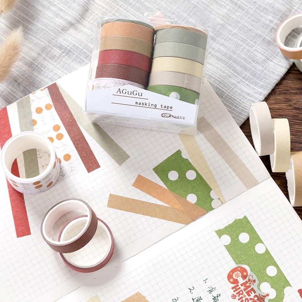 100 Rolls Masking Tape Washi Tape Stationery Sticker Decorative DIY Scrapbooking Planner Sticker 10//25mm2m