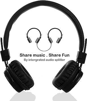 Termichy Kopfh/örer Kinder f/ür Jungen und M/ädchen Rose Faltbarer Leicht On-Ear HiFi Stereo kopfhoerer Mit Abnehmbarem Audio Kabel und Share Port