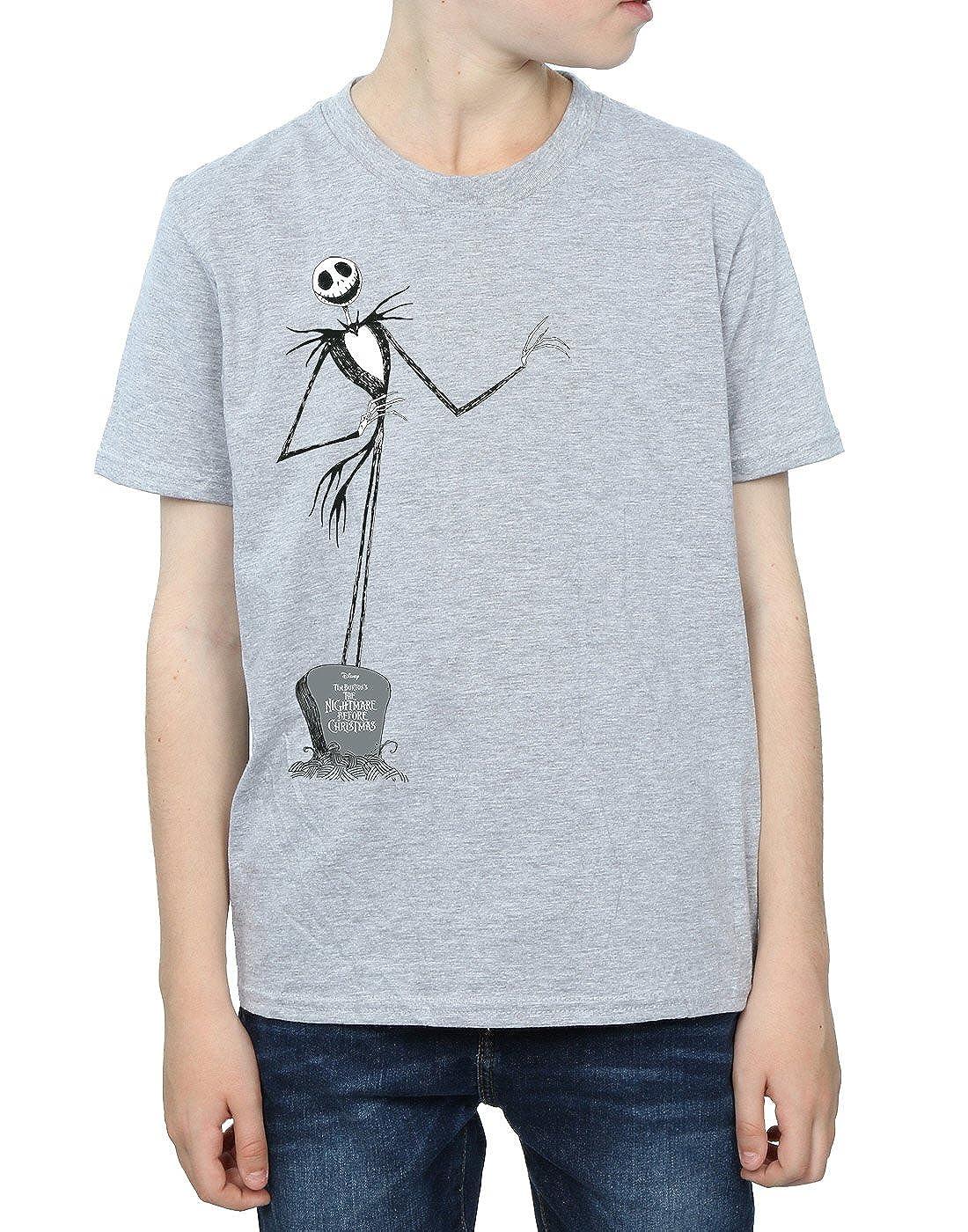 Amazon.com: Disney Boys Nightmare Before Christmas Jack Pose T-Shirt ...