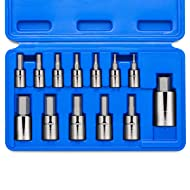 Neiko 10074A Hex Bit Socket Set, S2 Steel | 13-Piece Set | Metric