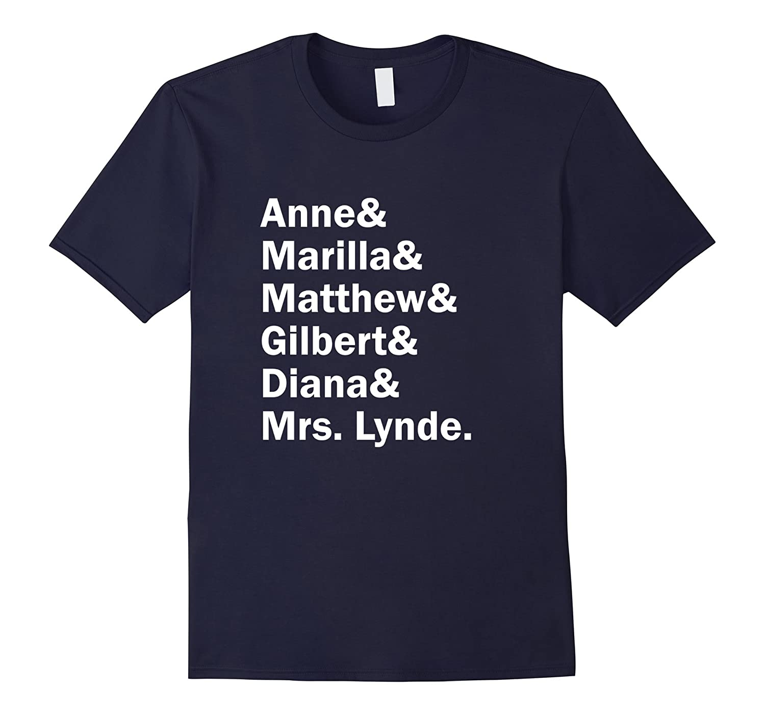 Anne of Green Gables Character List T-Shirt - L.M.Montgomery-FL