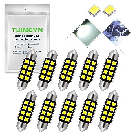 TUINCYN - Bombilla LED blanca de xenón superluminosa con chipsets de aluminio de 1,25