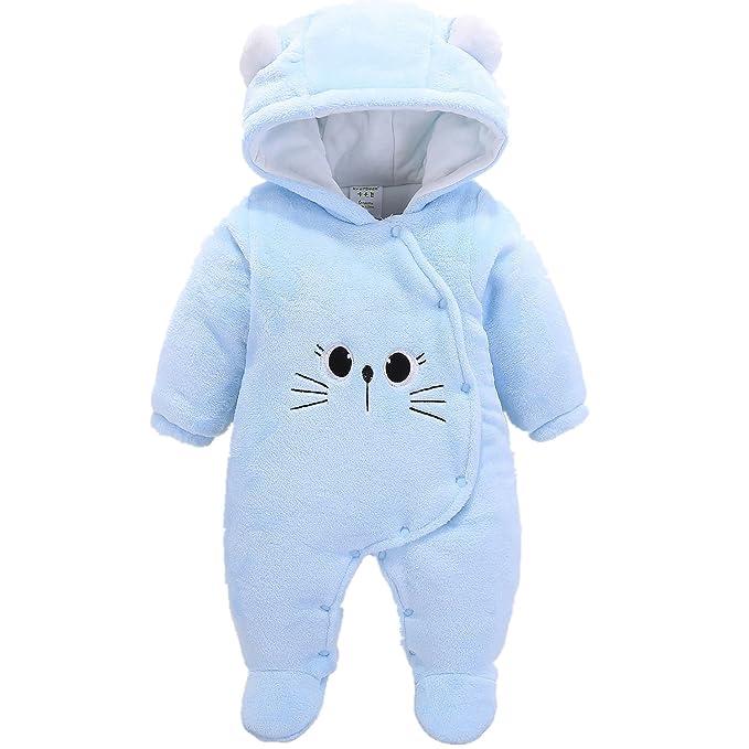e35bca88e Morbuy Jumpsuit Bebé Unisexo Bebé Recién Nacido Franela Mameluco Invierno  Ropa Una Pieza Pijamas Monos Caricatura