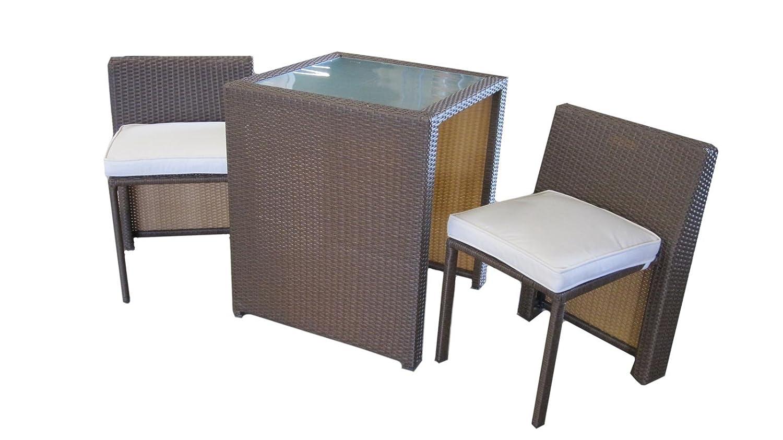 Balkonmöbel set platzsparend  Amazon.de: Balkonmöbel Box in braun - platzsparend Tisch und Stühle ...