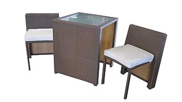 Amazon De Balkonmobel Box In Braun Platzsparend Tisch Und Stuhle