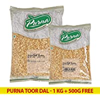 Purna Toor Dal - 1 kg + 500 gm (Pack of 2)