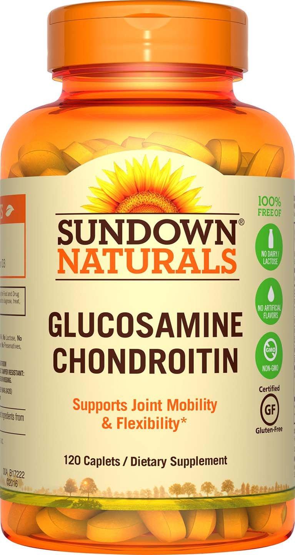 Sundown Naturals Glucosamine Chondroitin Double Strength w/Calcium & Vit D3, 120 Caplets