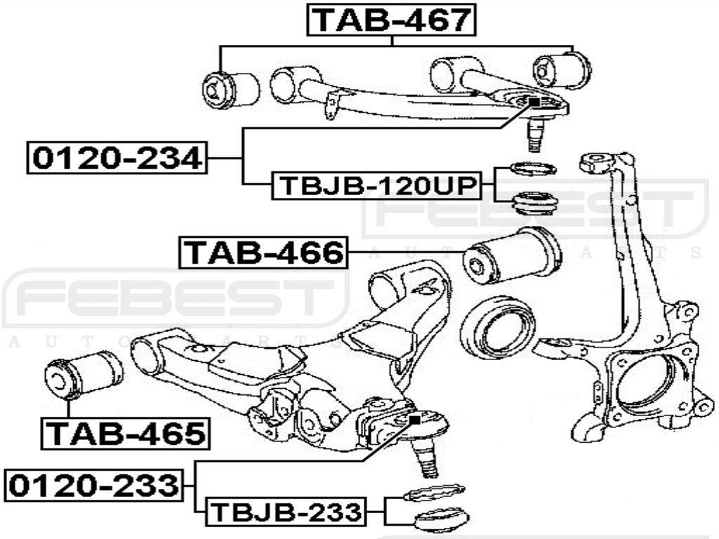FEBEST TAB-467 Front Upper Arm Bushing