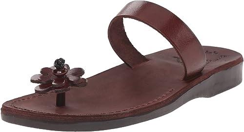 Jerusalem Sandals Damen Sandalen zum Reinschlüpfen, braun