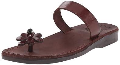 7827b856226e12 Jerusalem Sandals Women s Esther Slide Sandal Brown 36 EU 5 ...