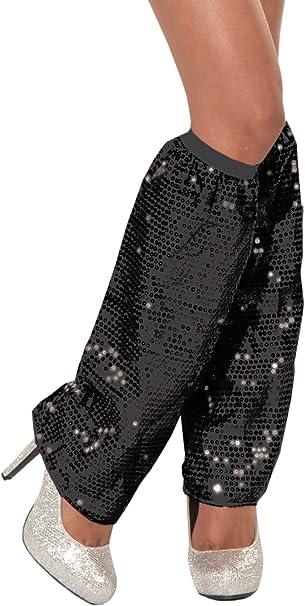 Amazon.com: Disfraz de lentejuelas calentadores de piernas ...