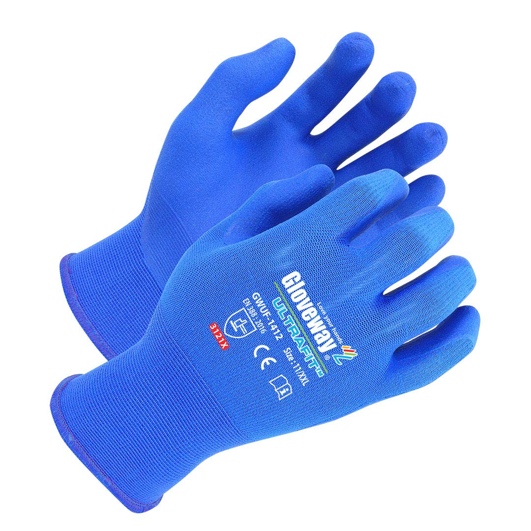 LOVE YOUR HANDS GLOVEWAY Ultrafit Gloves (3 Pack) - Ultra Thin, Air Ventilation, Snug Fit, Cooling, 18 Gauge Gloves - XX-L Size