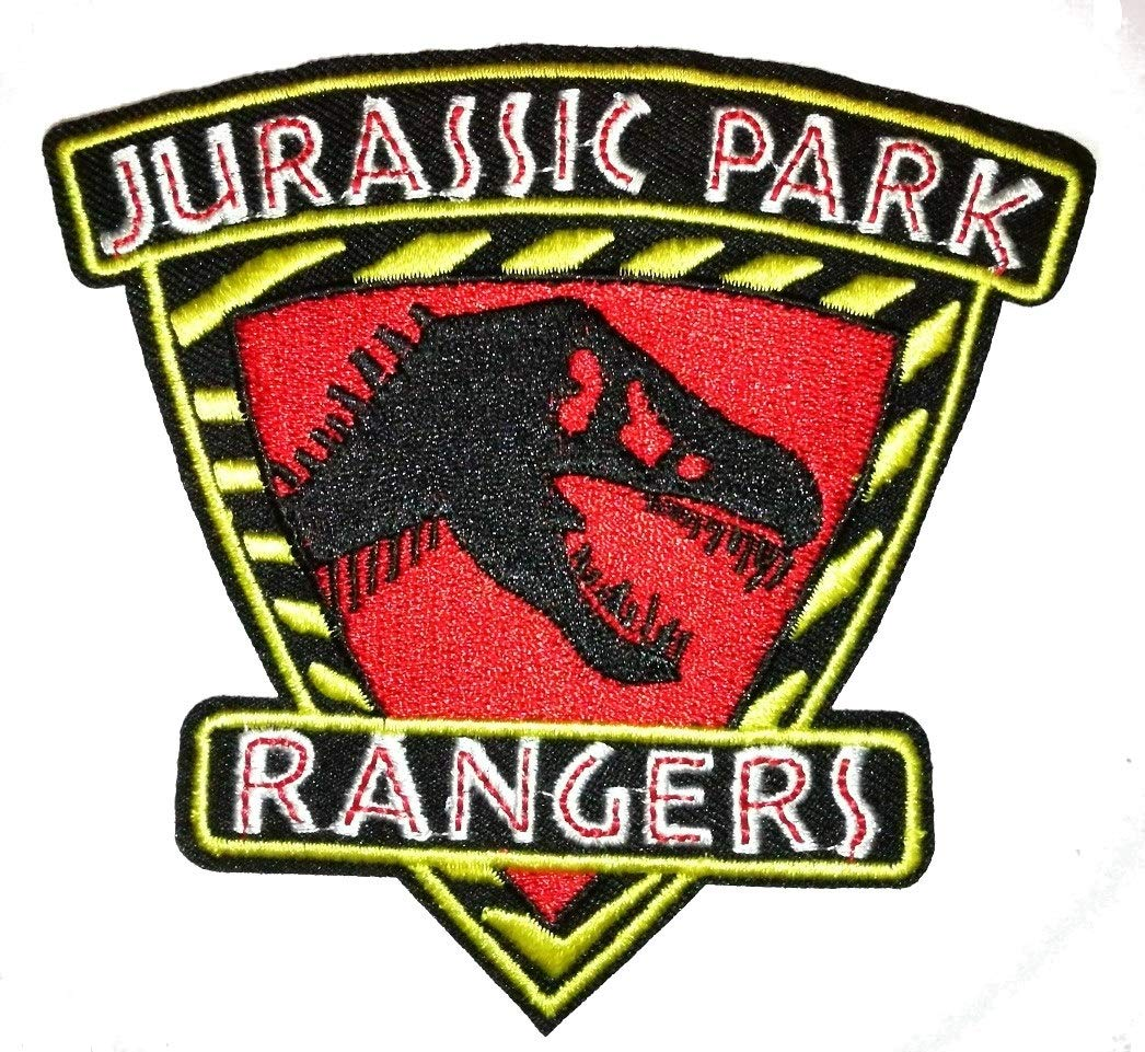 Rangers Jurassic Park Embroidered Cloth Iron On Patches