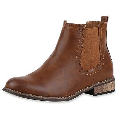 reputable site 6e75c 398dc Chelsea Boots Damen | Kunstleder Stiefeletten | Pflegeleichtes Obermaterial  | Gr. 36-41
